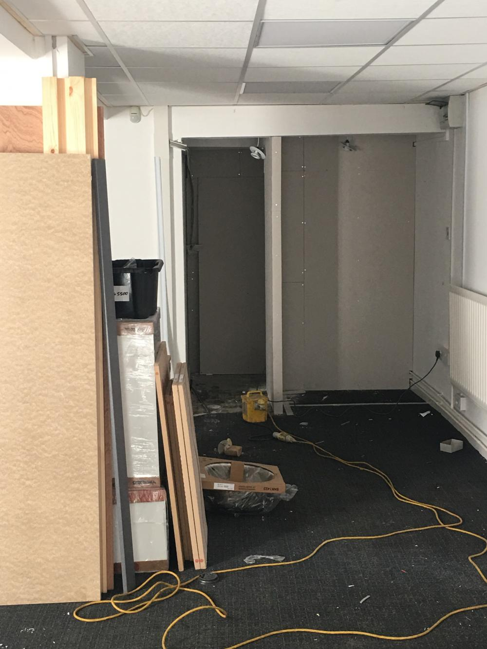 Unit 7 having toilet and kitchen installed